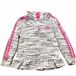 Adidas Zip Up Sweatshirt w/ Ruffle Girls 6